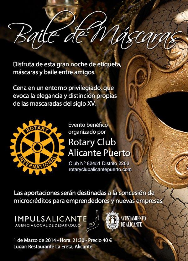 Rotary Club Alicante Puerto - Evento: Baile de Máscaras